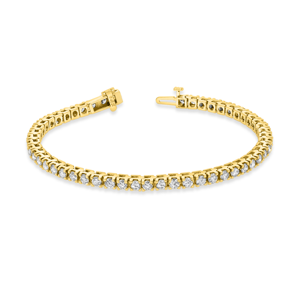 View 4.00ctw Diamond Tennis Bracelet in 14k Yellow Gold