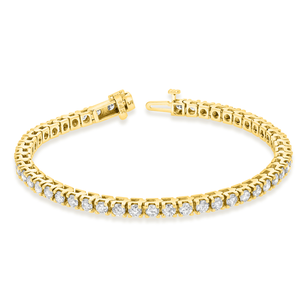 View 5.00ctw Diamond Tennis Bracelet in 14k Yellow Gold