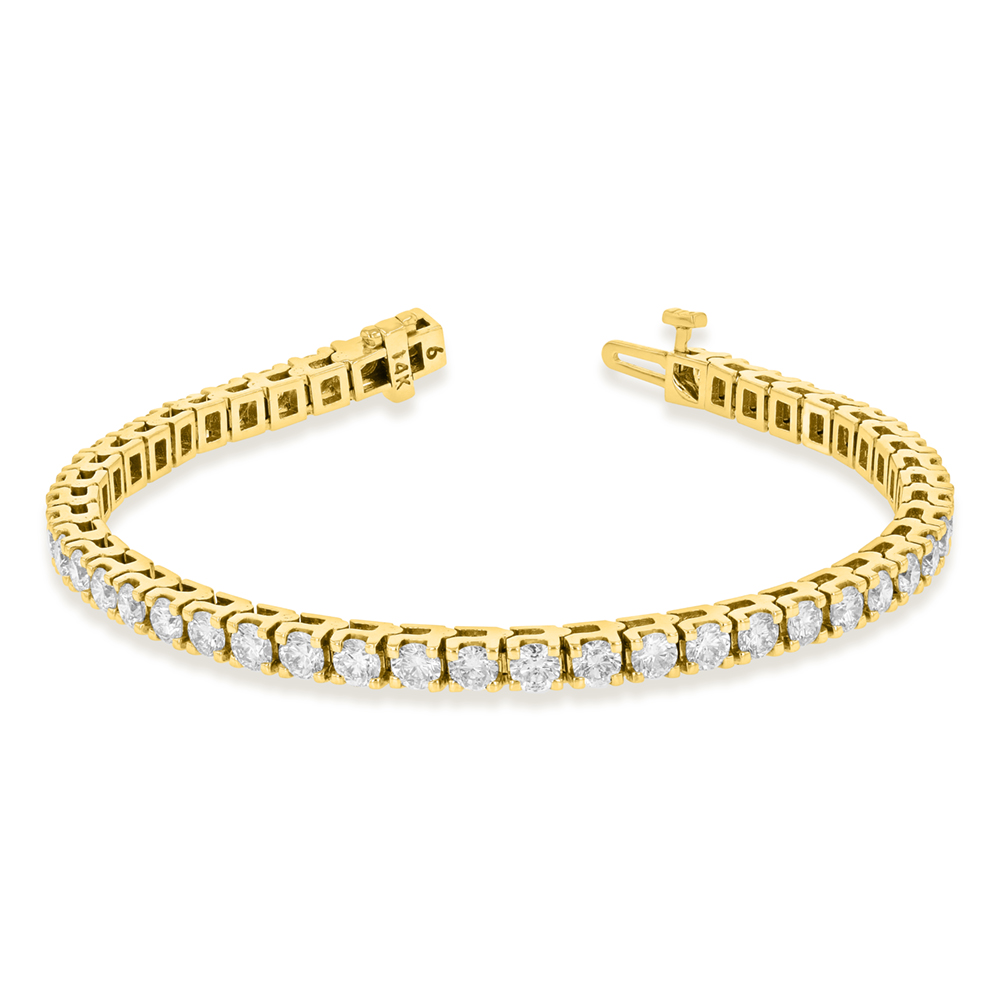 View 6.00ctw Diamond Tennis Bracelet in 14k Yellow Gold