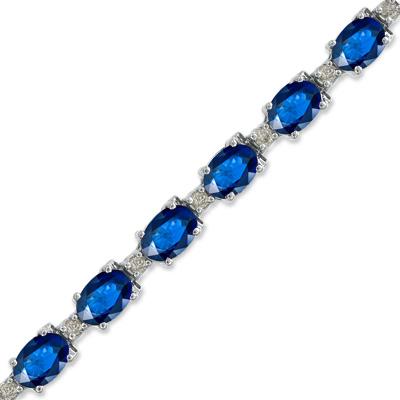 11.40ct tw Sapphire and Diamond Bracelet set in 14k Gold