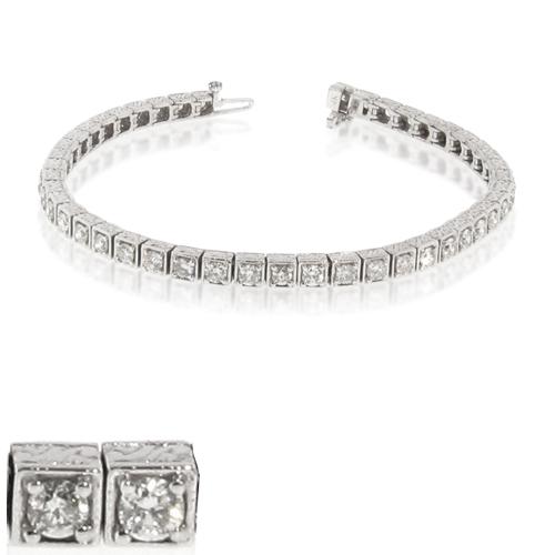 LeVaron 14k Gold Antique Look Tennis Bracelet with 6.00cttw of Diamonds at Sears.com