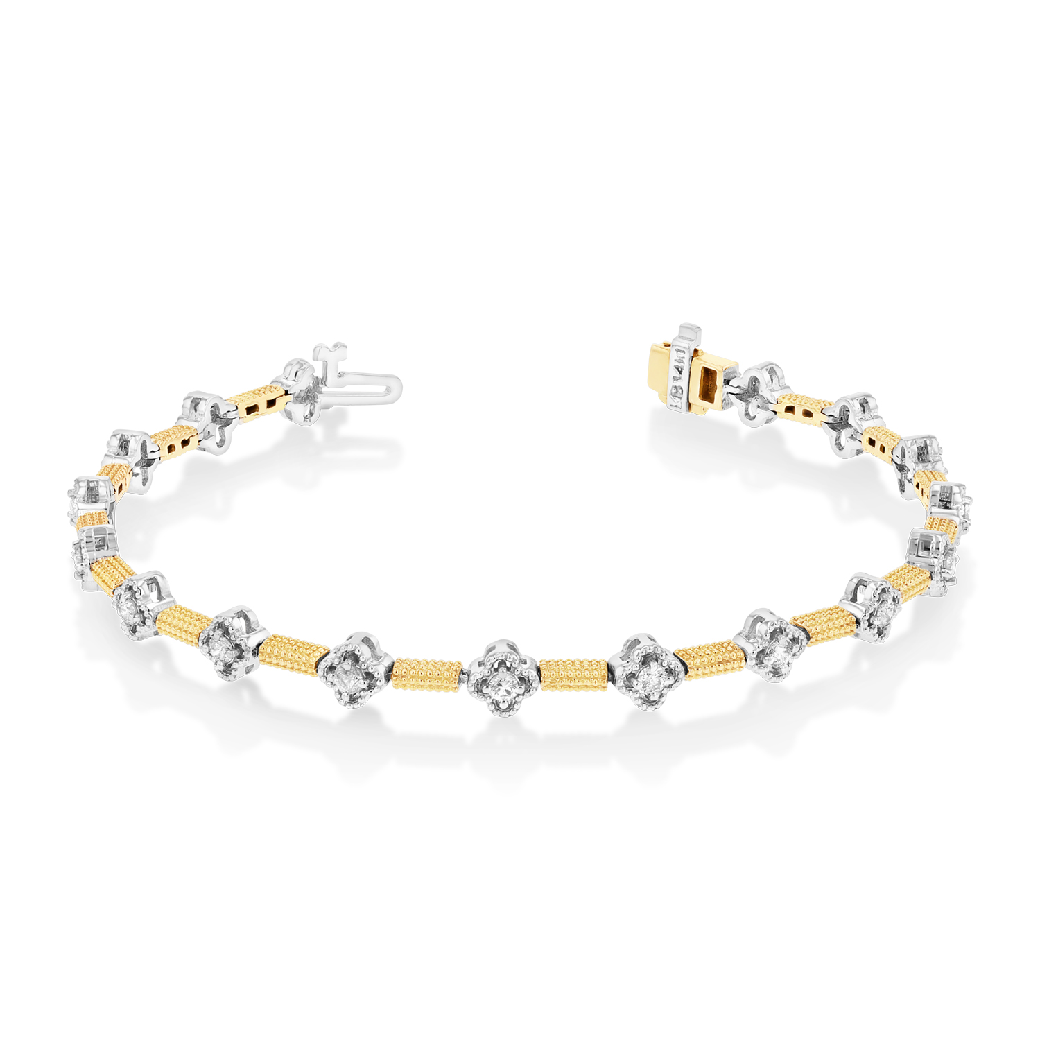 View 0.75ctw Diamond Bracelet in 14k TT