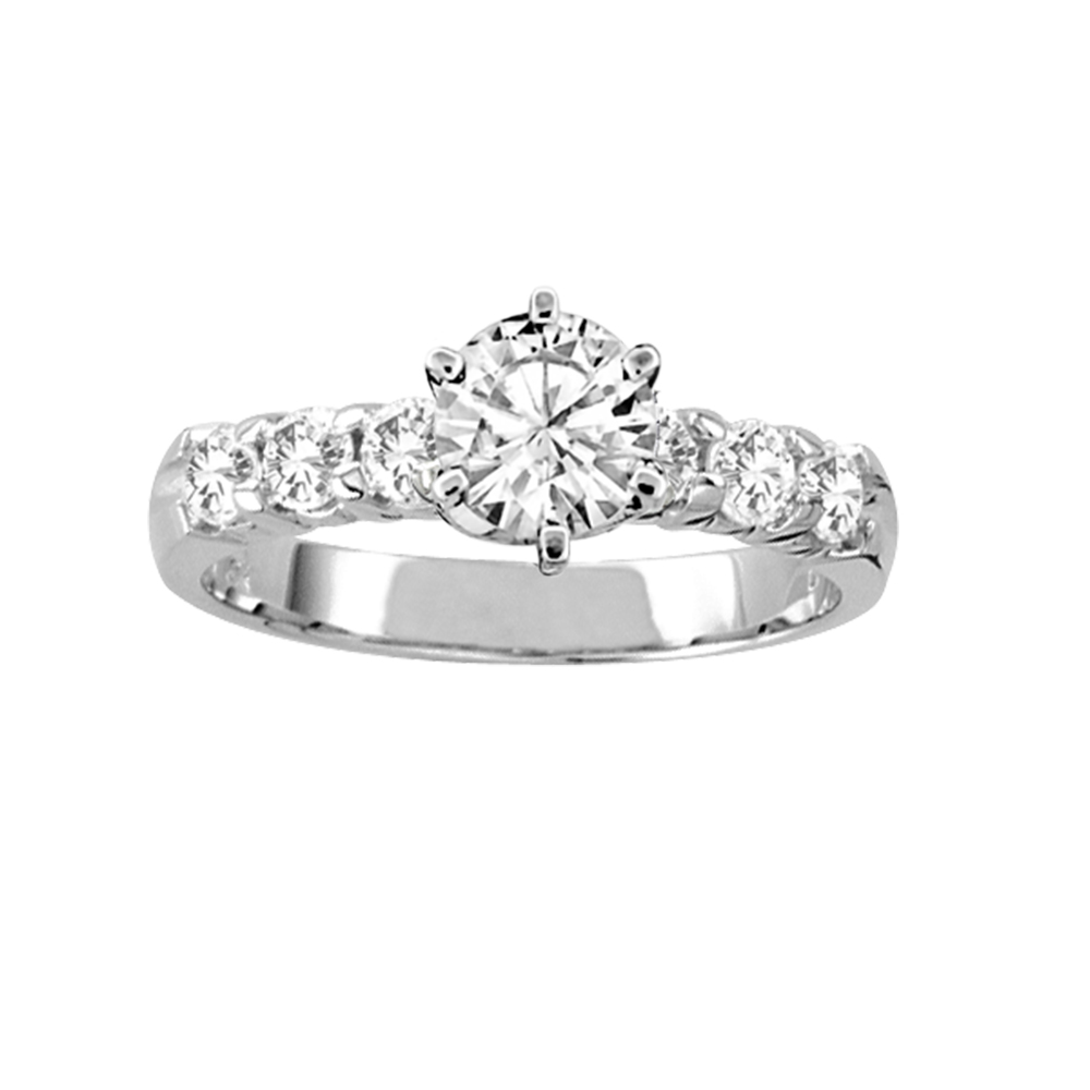 View 1.05ct tw of Diamond Engagement Ring 14k Gold Prong Set Center Stone Included