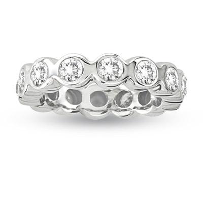 View 2.00ct tw Round Diamonds All Around Eternity Band 14k White Gold Bridal Ring