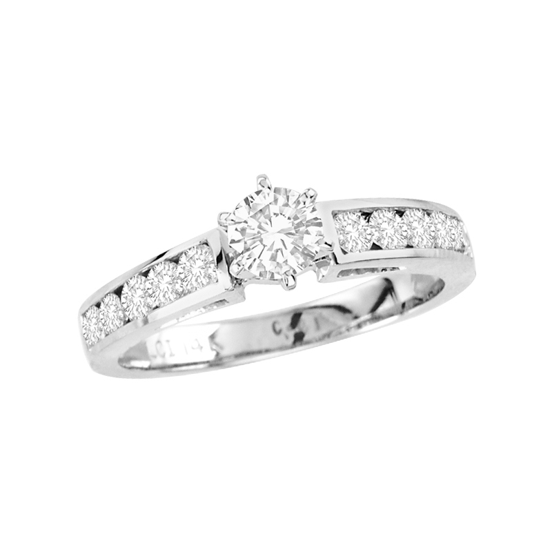 View 1.00cttw Diamond Engagement Ring 14k Gold