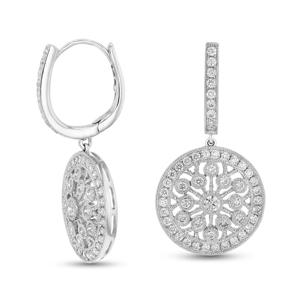 View 1.22ctw Diamond Fashion Earrings in 18k WG