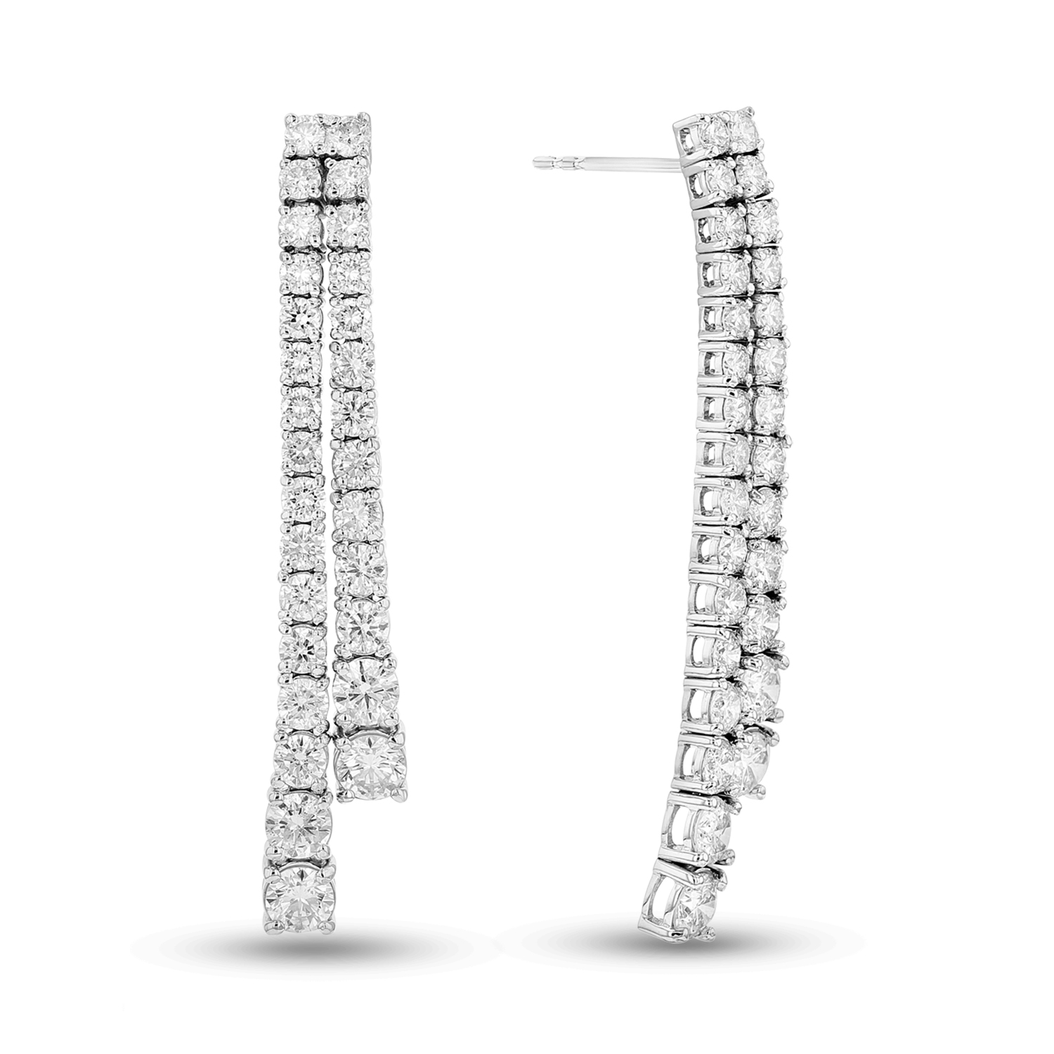 View 4.00ctw Diamond Earrings in 14k Gold