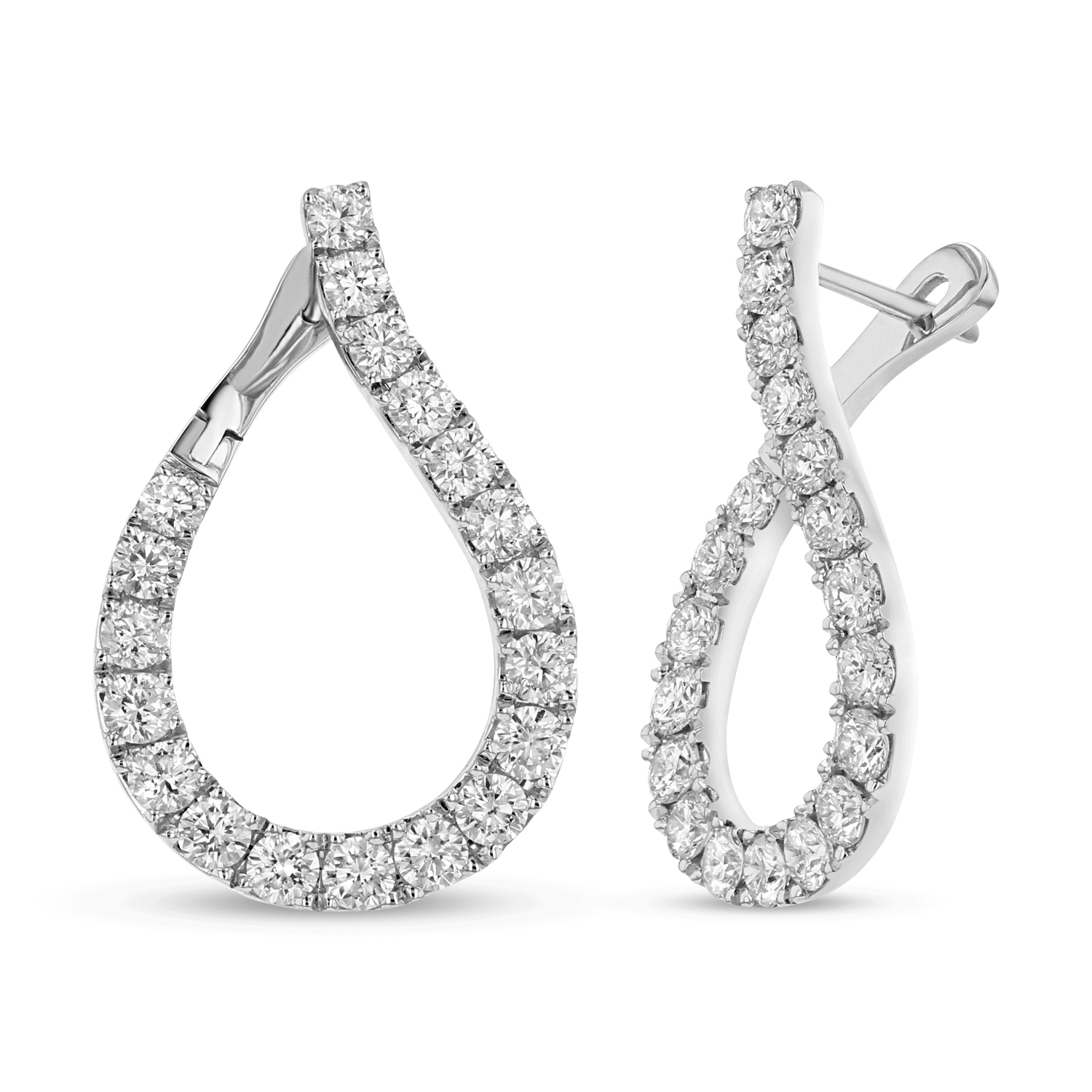 View 1.78ctw Diamond Earrings in 18K White Gold