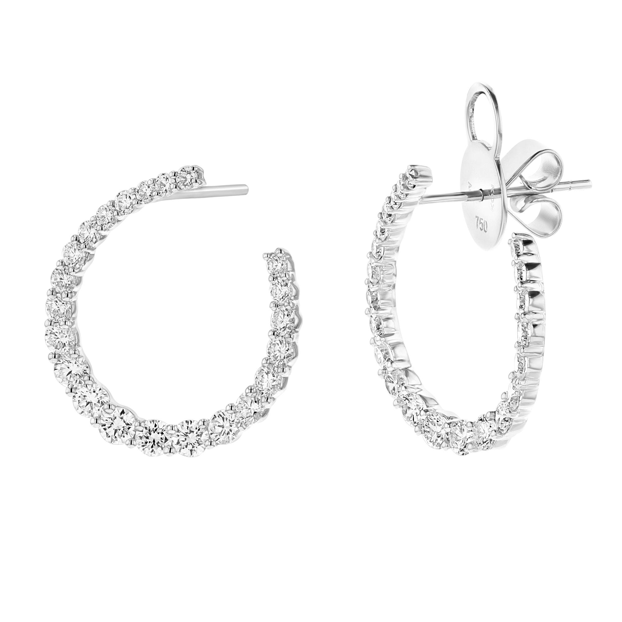 View 1.91ctw Diamond Fashion Earrings in 18k White Gold