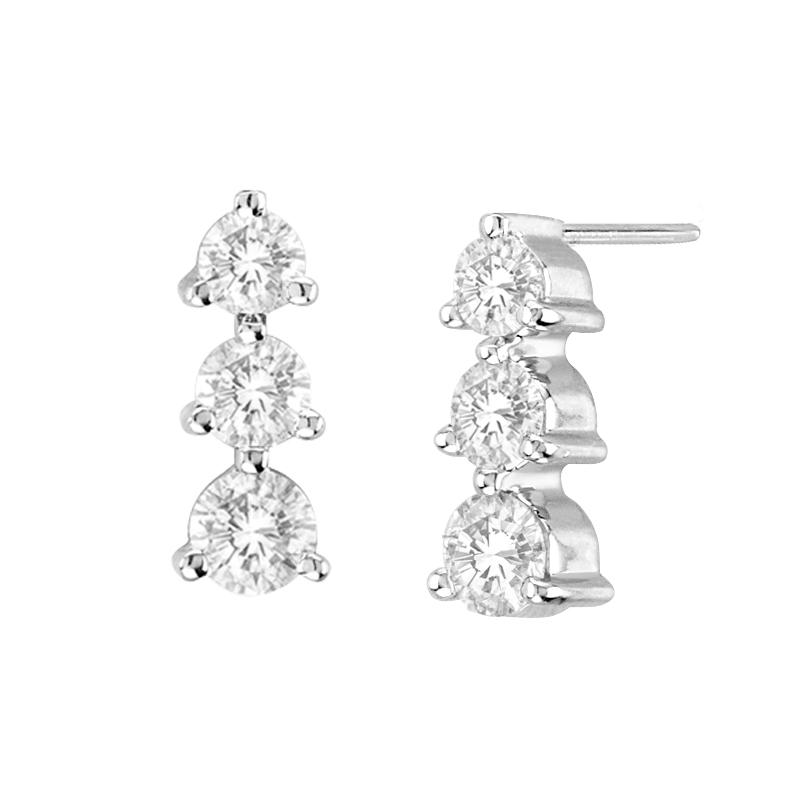 View 1.50 ctw diamond earring in 14K