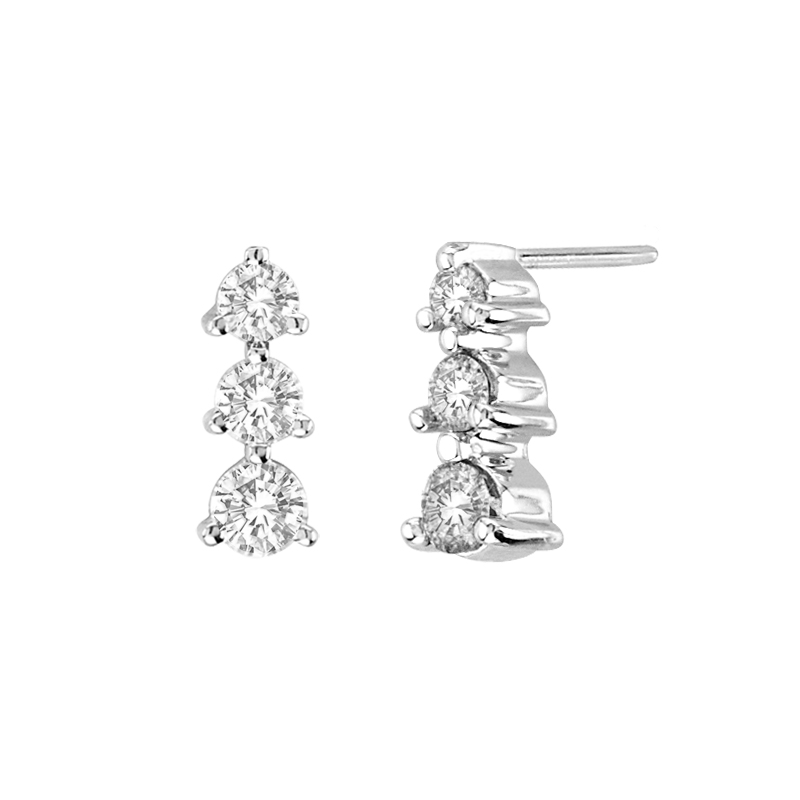 View 0.50 ctw diamond earring in 14K