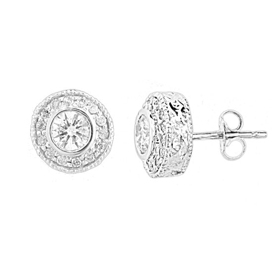 View 0.60ct tw Diamond Earring set in 14k Gold