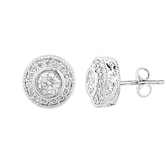 View 1.00ct tw Diamond Earrings set in 14k Gold