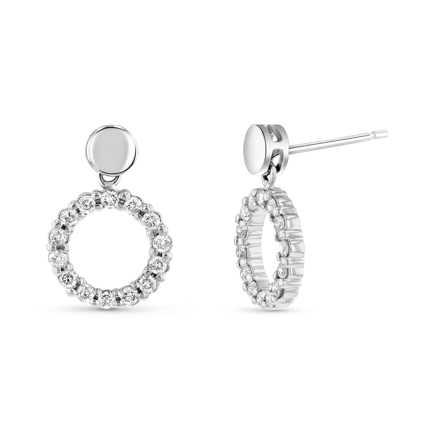 View 14k Gold Earrings with 0.50ct tw of Round Diamond