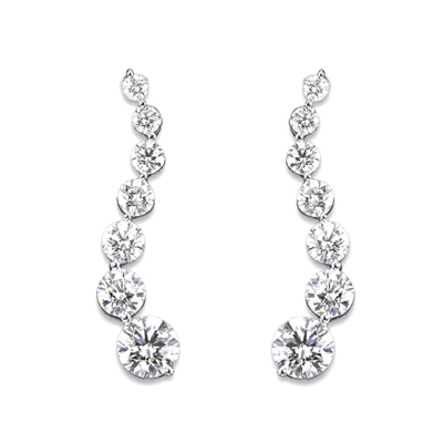 View 14k Gold Journey Earrings with 1.00cts of Diamonds. I-I quality