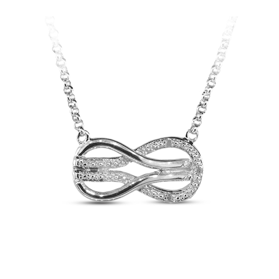 0.02cttw Diamond Accent Sterling Silver Infinity Necklace