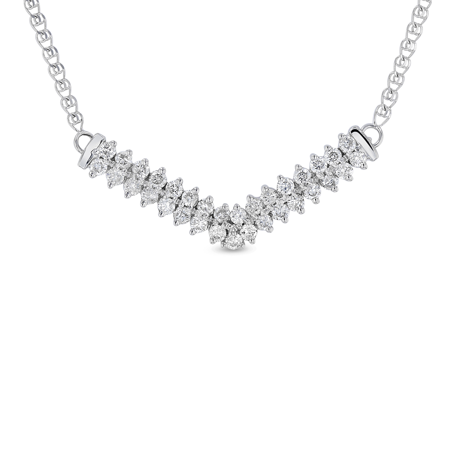 View 0.654 ctw Diamond Necklace in 14K Gold