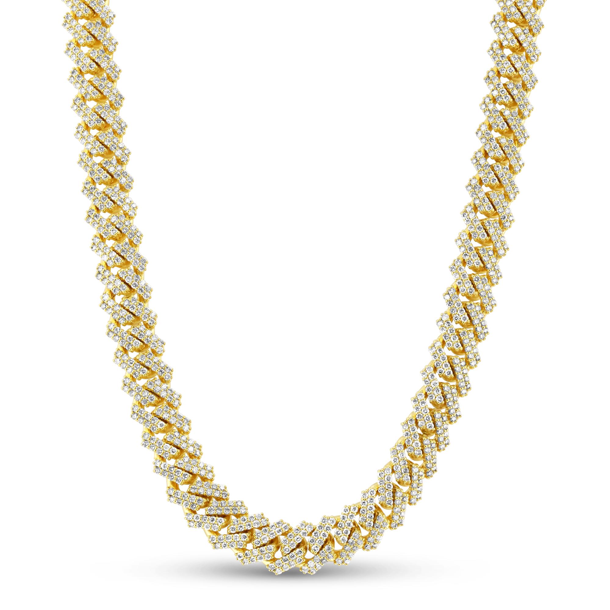 View 18.95ctw Diamond Men's Cuban Chain Necklace