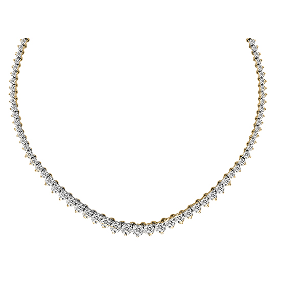 View 12.00 ctw Diamond Tennis Necklace in 14K Gold