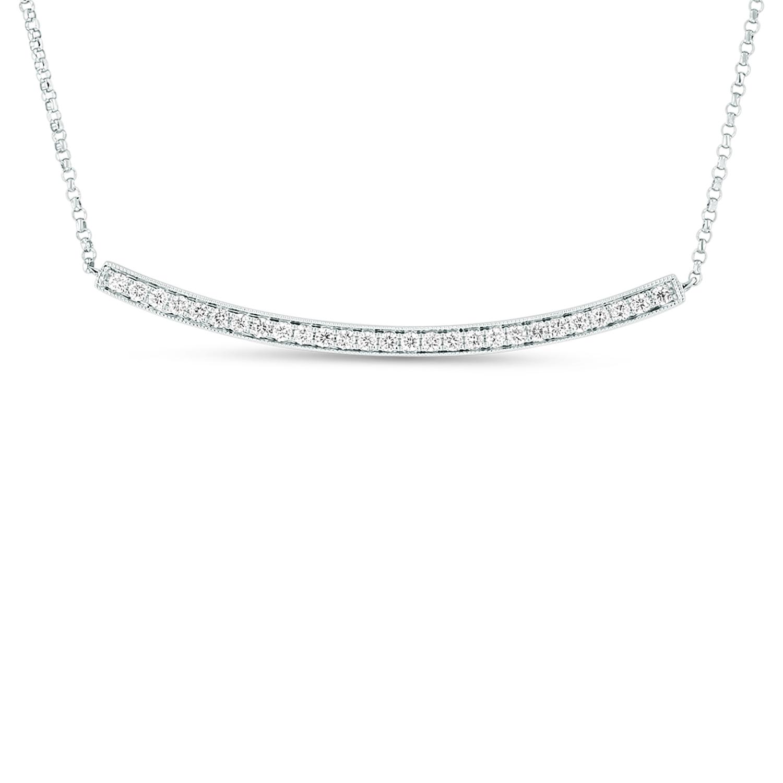 View 0.27ctw Diamond bar Pendant in 18k White Gold