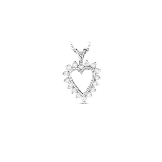 View 0.25cttw Diamond Heart Pendant set in 14k Gold