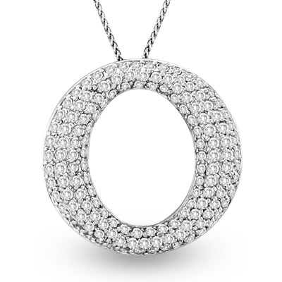 View 14k Gold Pendant with 2.00ct Diamonds. Chain Included
