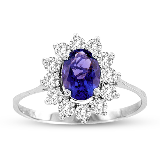 View 1.33cttw Tanzanite and Diamond Ring set in 14k Gold