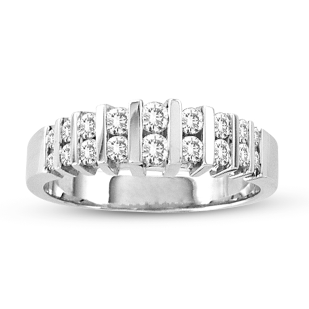 View 14k Gold Wedding or Anniversary Band 0.65ct tw Diamonds Bridal Ring