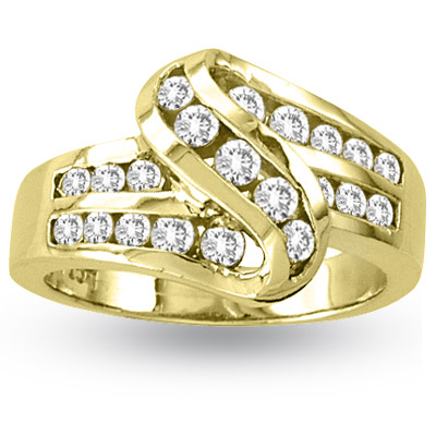 6f4be192b8f View 14k Gold Channel Set Band with 0.75ct tw of Round Diamonds