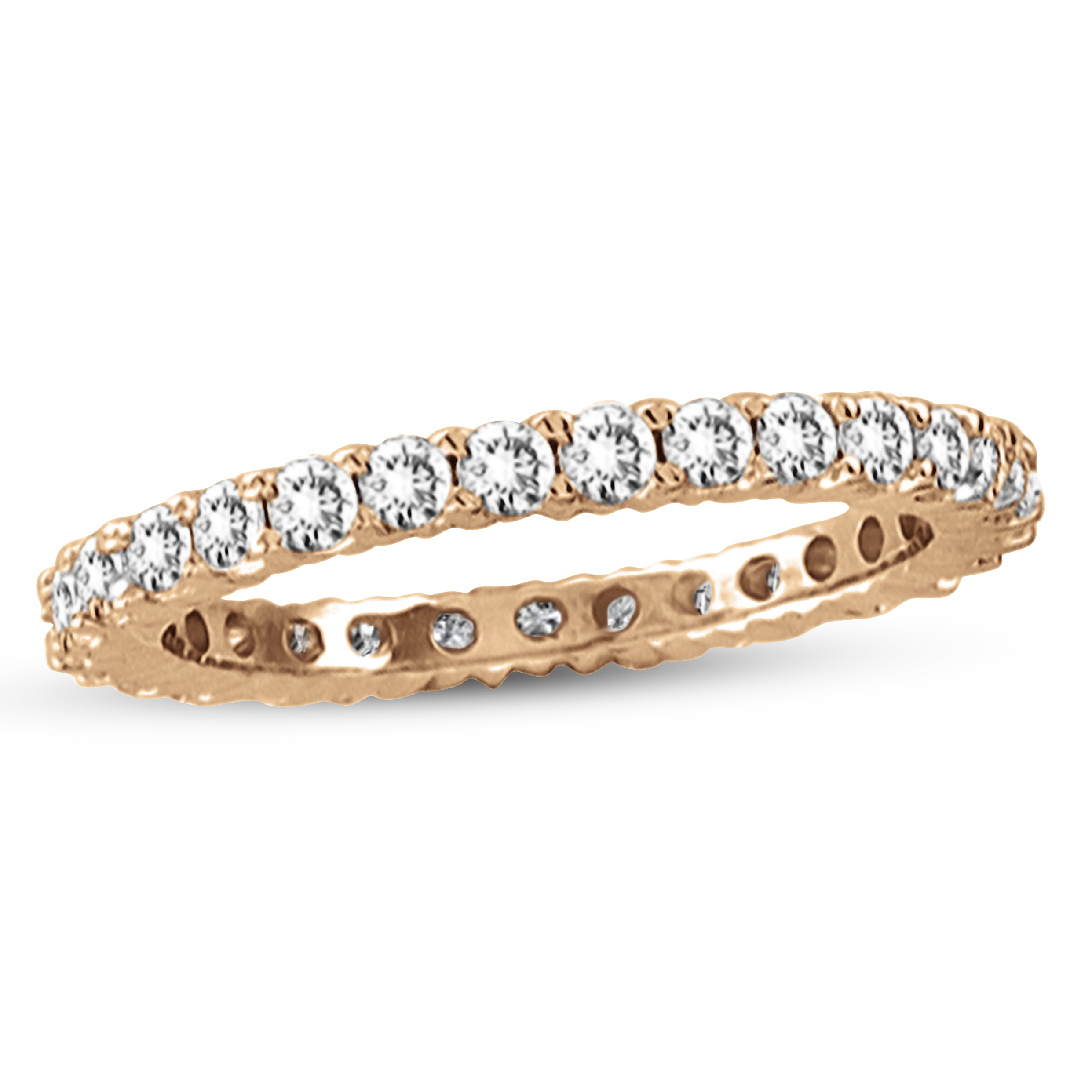 View 0.50ctw Diamond All Around Eternity Wedding Band in 14k Rose Gold