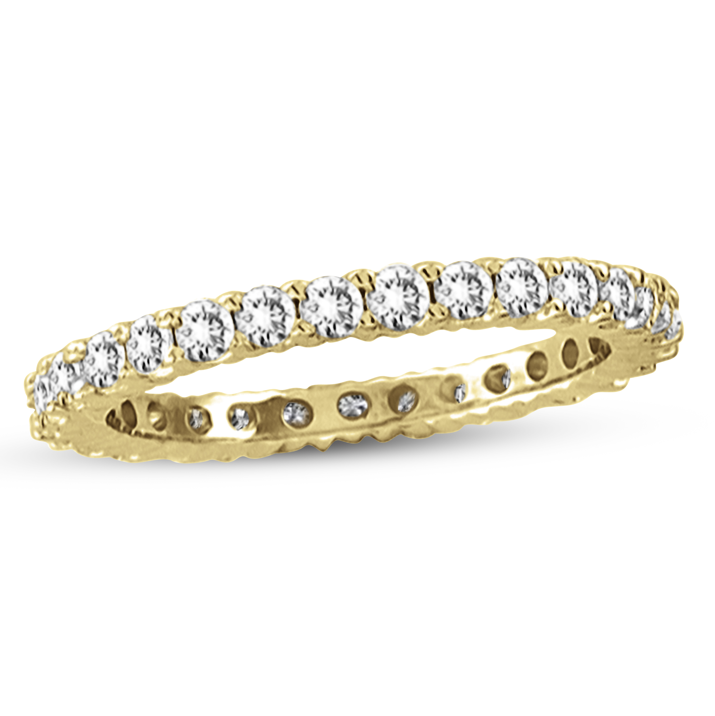View 0.50ctw Diamond All Around Eternity Wedding Band in 14k Yellow Gold