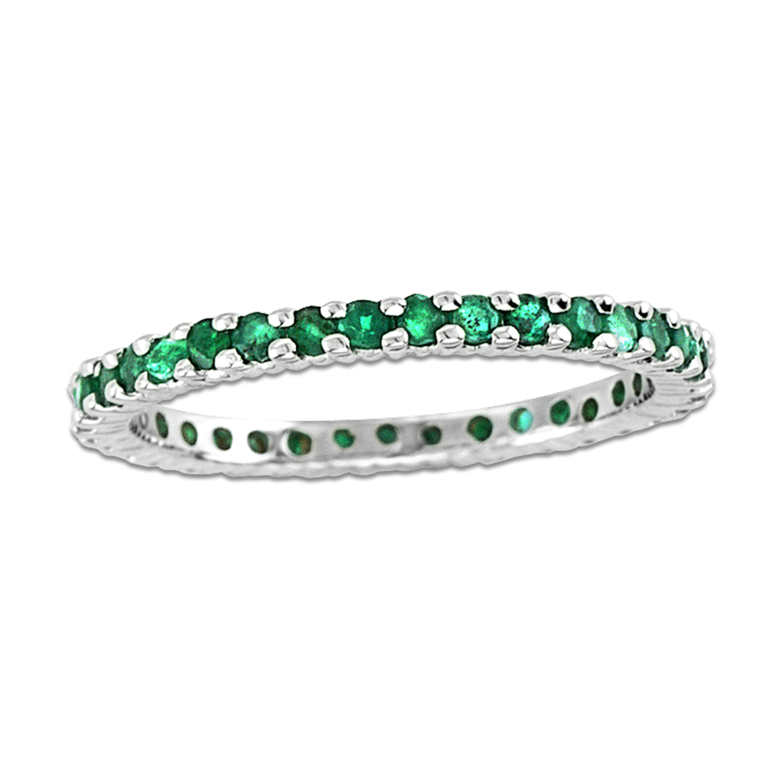 02a0fae329c View 14k Gold All Around Eternity Band with 0.75ct tw of Emerald