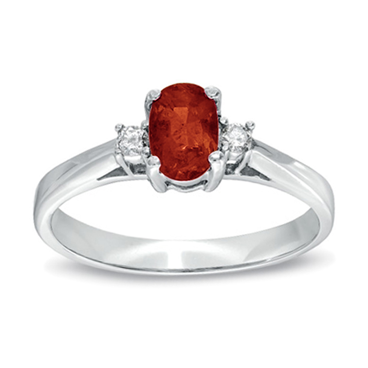 0.55cttw Natural Heated Ruby and Diamond Ring set in 14k Gold