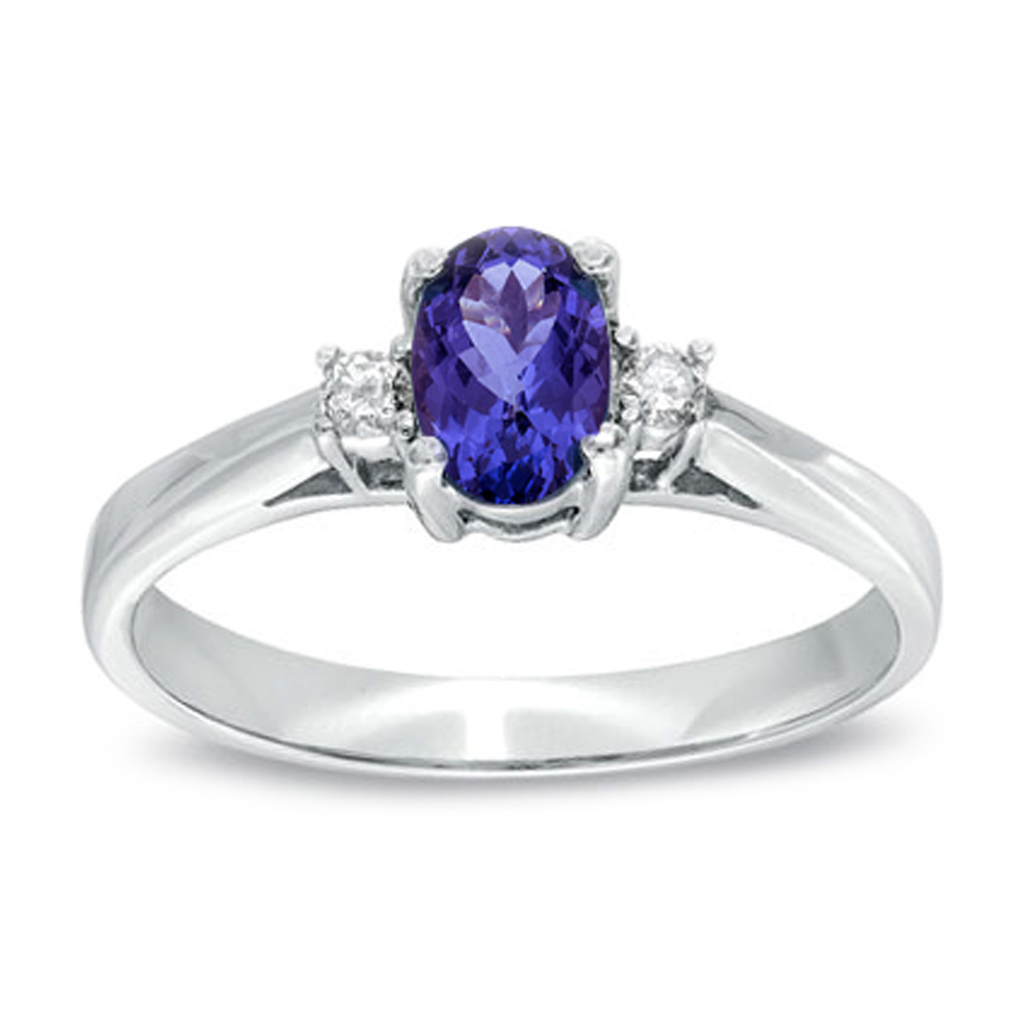 View 0.53cttw Tanzanite and Diamond Ring set in 14k Gold