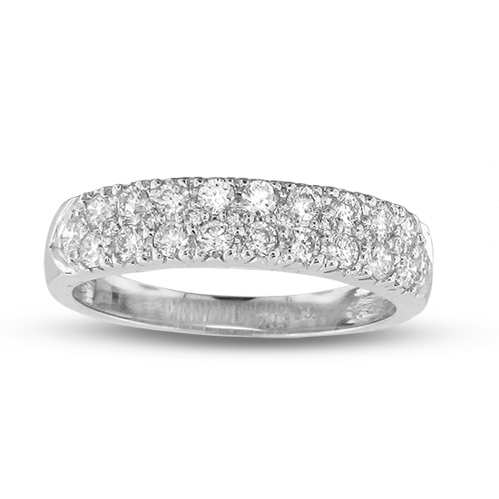 View 0.65cttw Diamond Wedding Band set in 14k Gold
