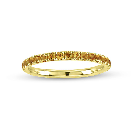 View 0.62cttw Citrin Wedding Band in 14k Yellow Gold