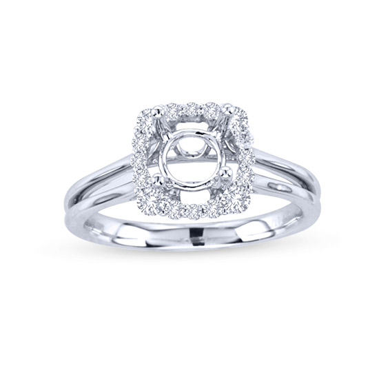 View 0.31cttw Diamond Semi Mount Engagement Ring in 18k White Gold