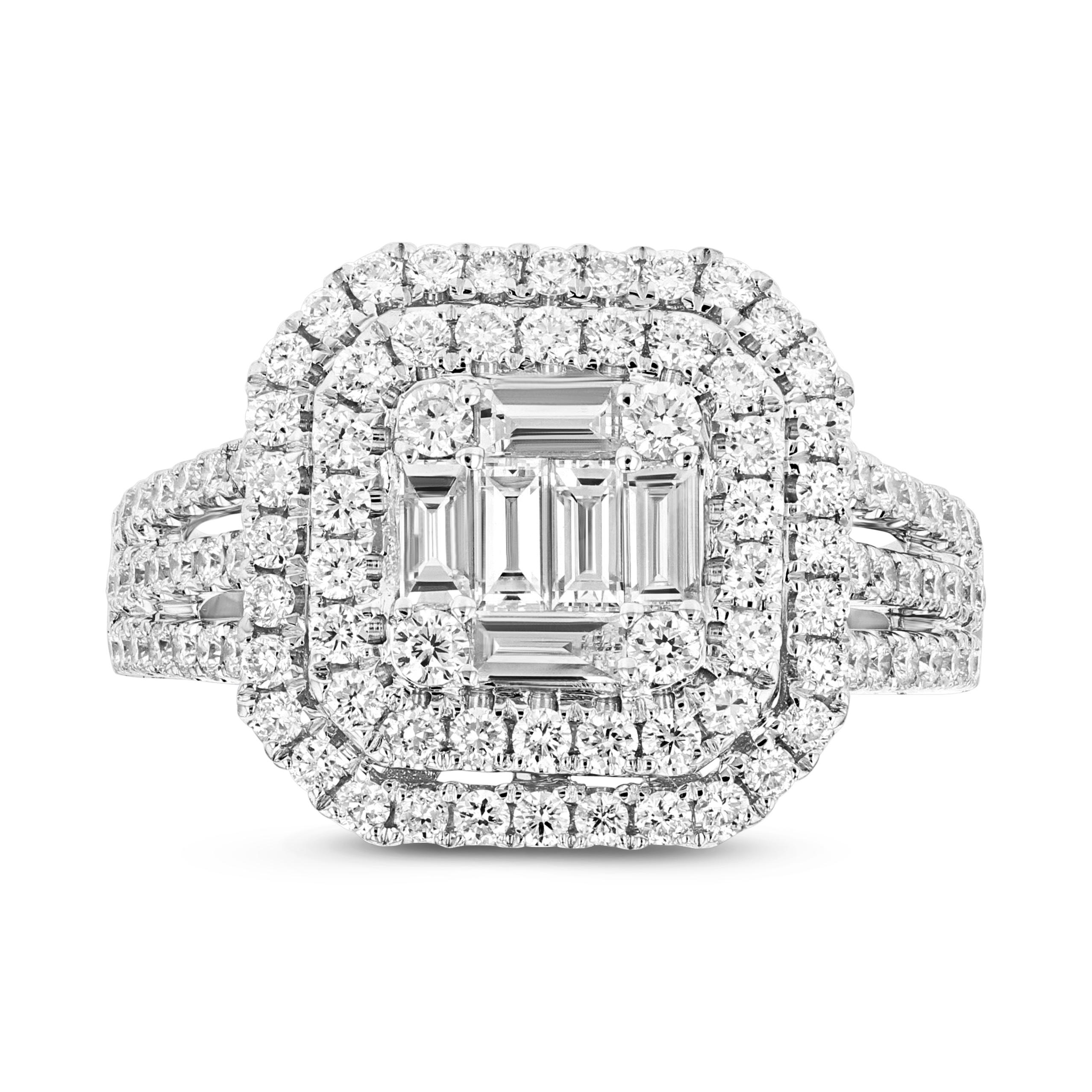 View 1.65ctw Diamond Fashion Ring in 18k White Gold