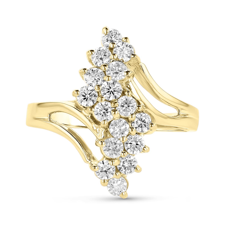 View 0.80ctw Diamond Ring in 14k Yellow Gold