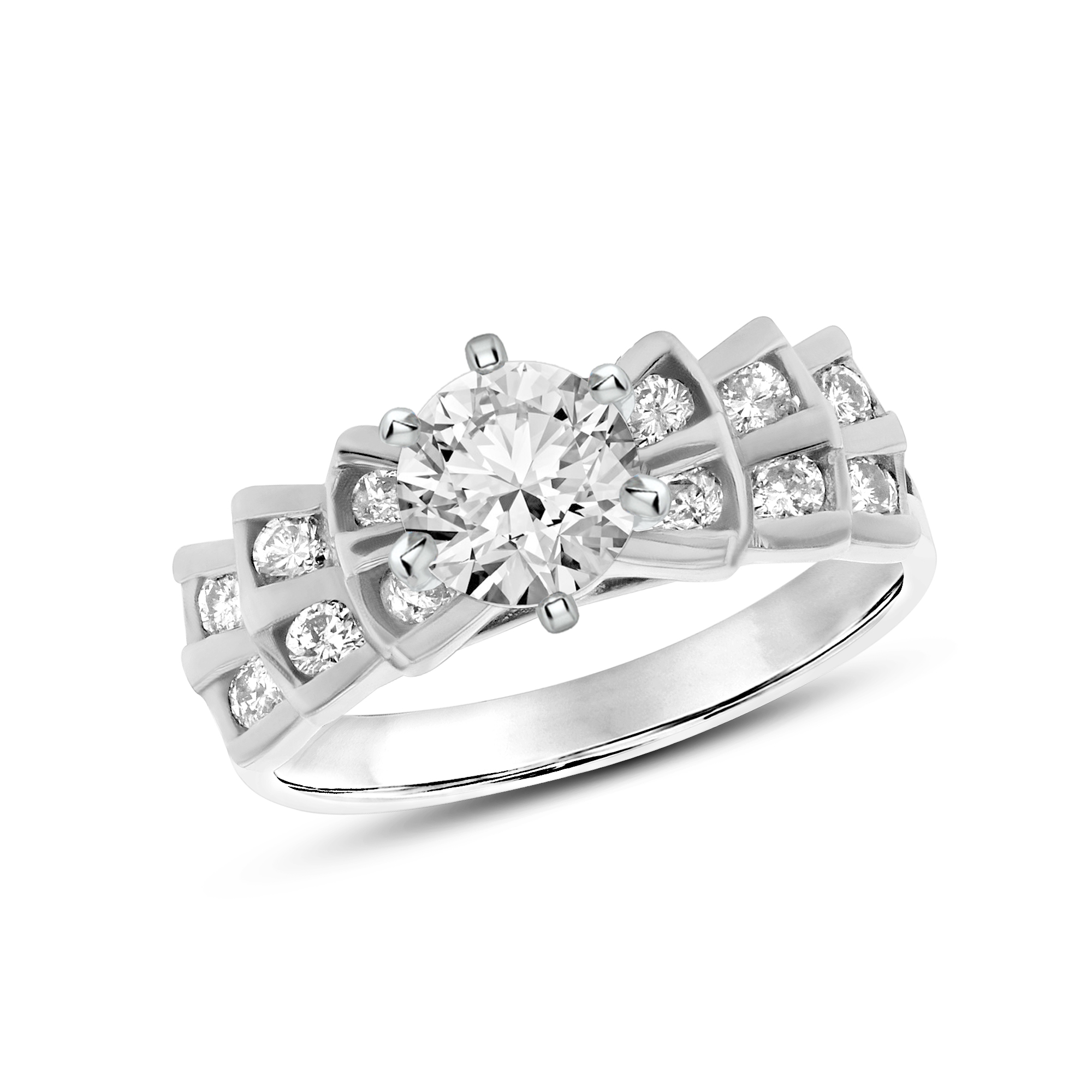 View 0.85ctw Diamond Engagement Ring in 14k White Gold