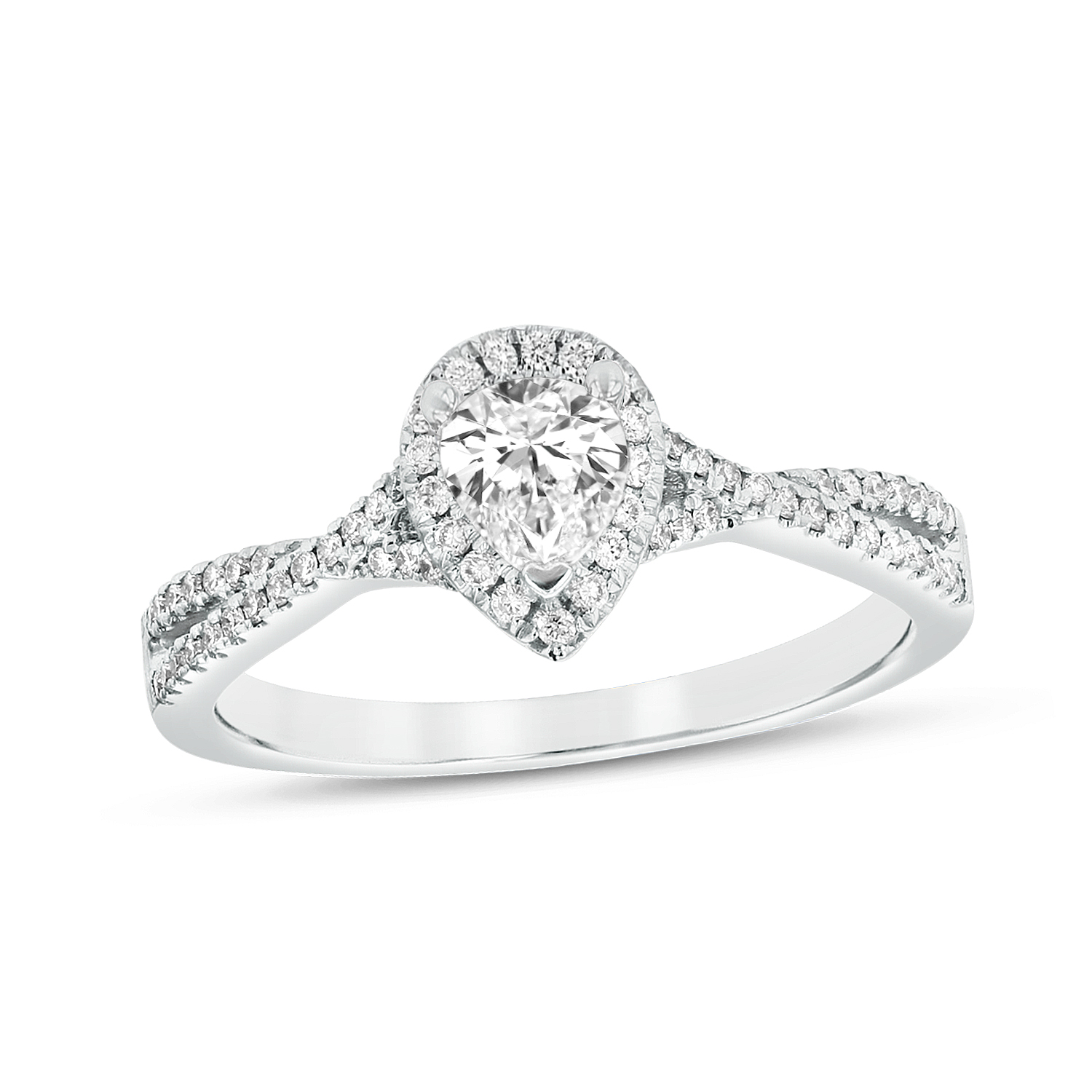 View 0.62ctw Diamond Engagement Ring in Platinum