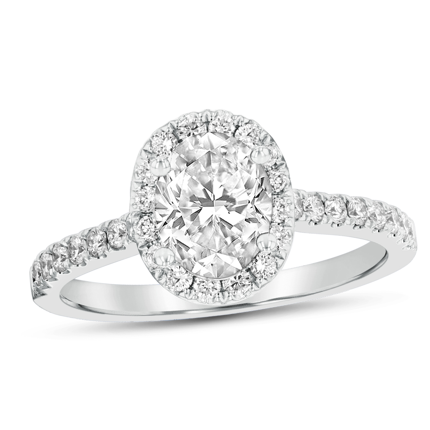 View 1.08ctw Diamond Engagement Ring in Platinum
