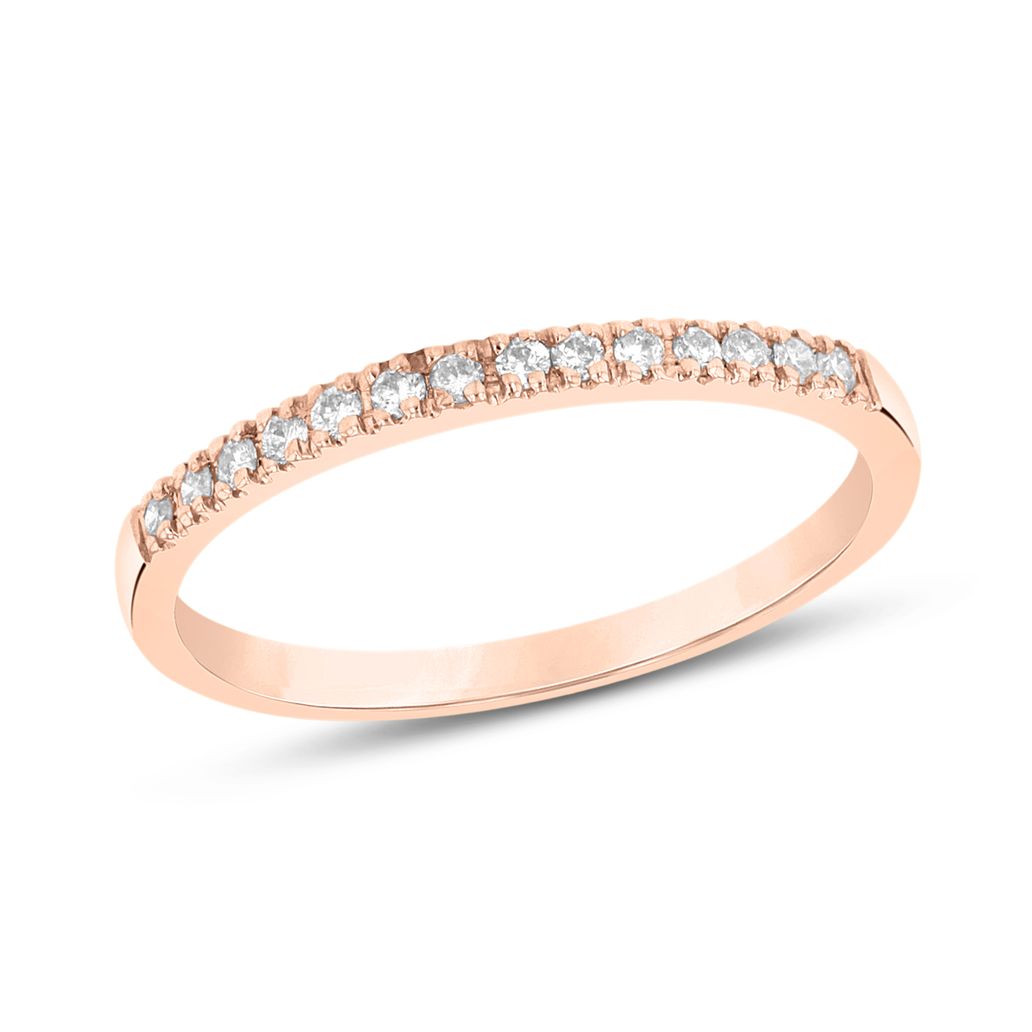 0.15ctw Diamond Band in 14k Rose Gold