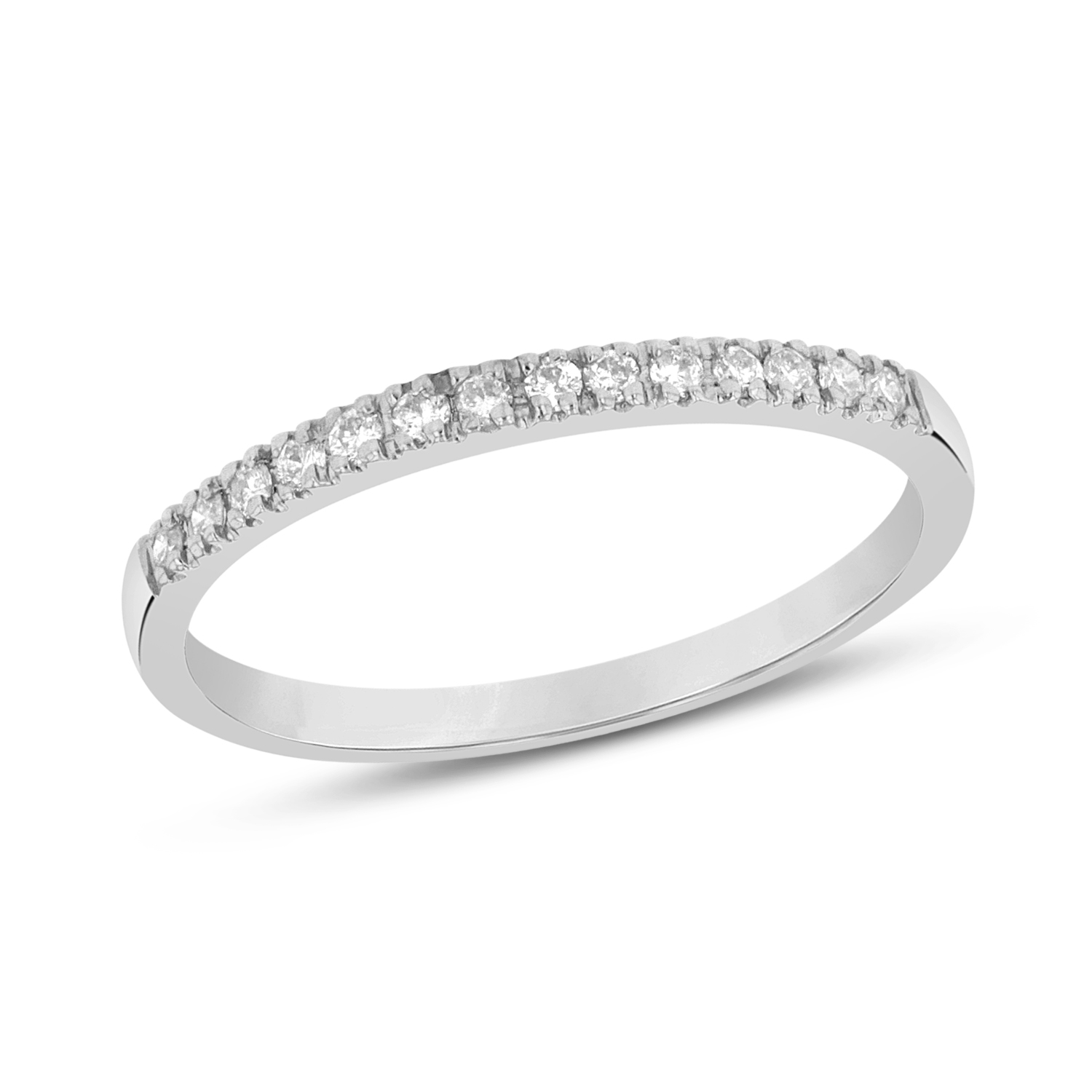 0.15ctw Diamond Band in 14k White Gold