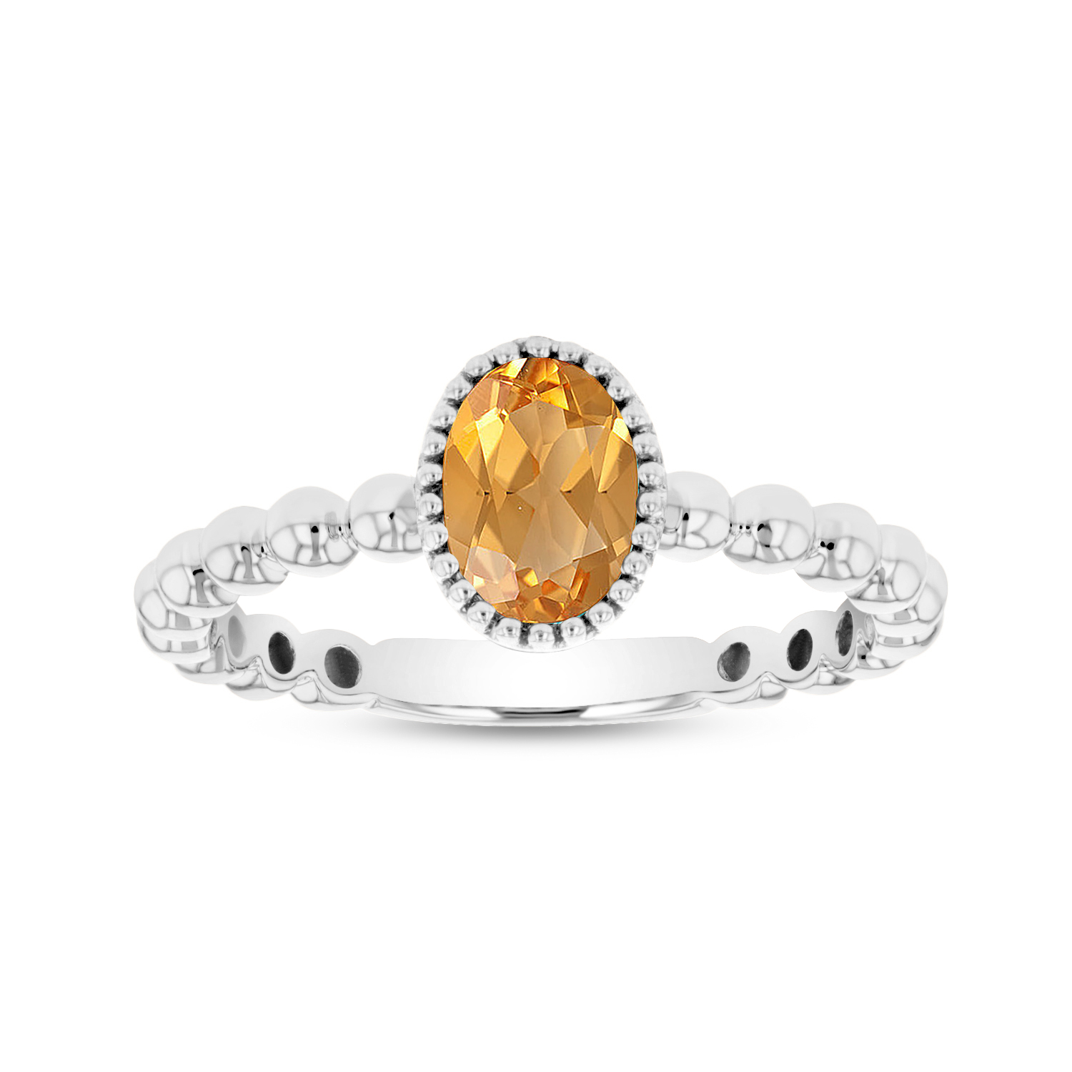 View 7x5mm Oval Citrine Ring in 14k Gold