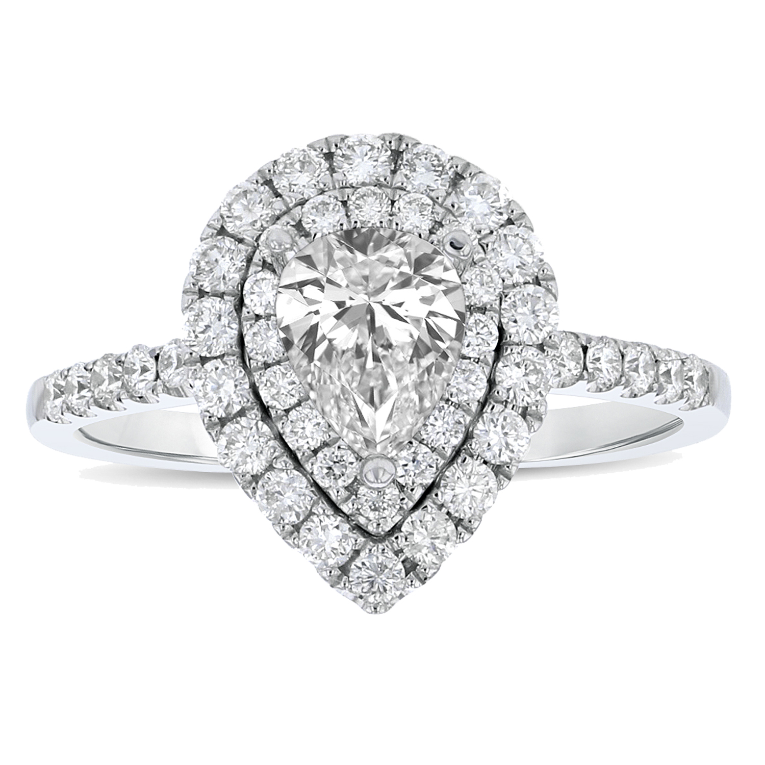 View 1.09ctw Diamond Engagment Ring in 18k white gold
