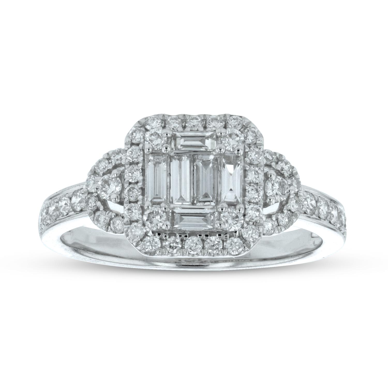 View 0.67ctw Diamond Fashion Ring in 18k White Gold