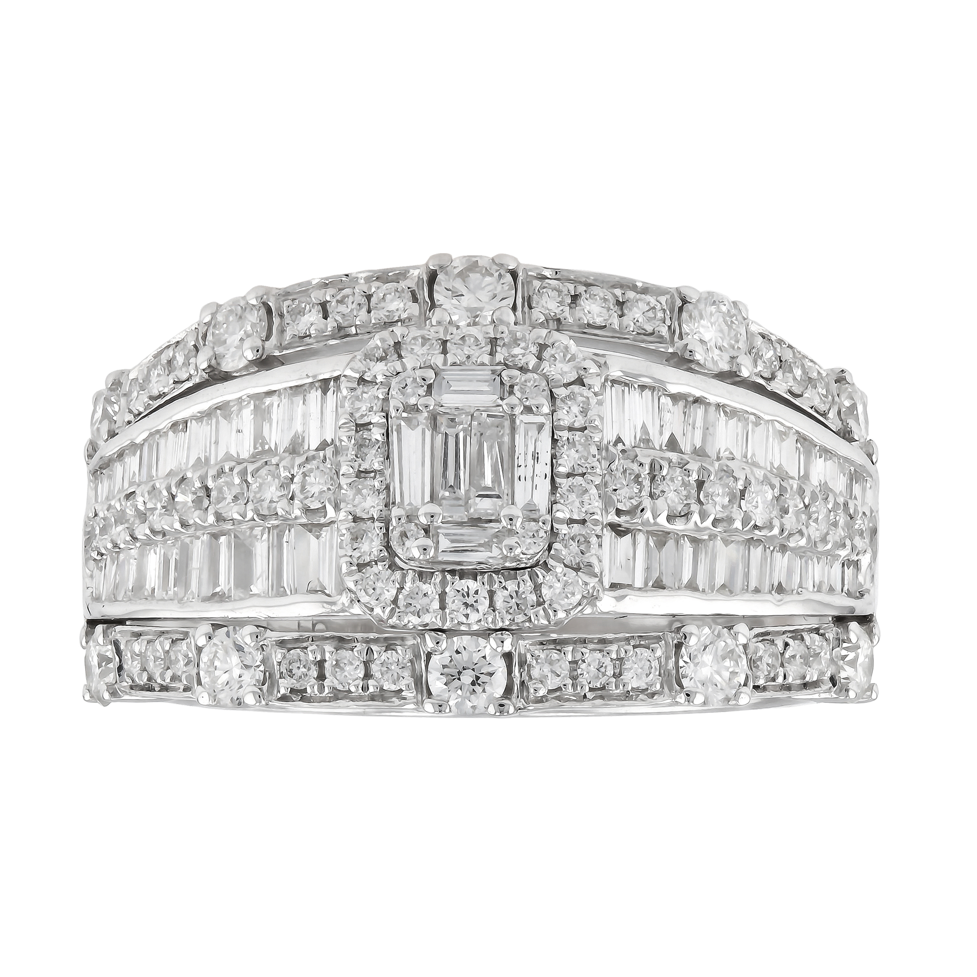 View 1.15ctw Diamond Fasihion Band in 18k White Gold