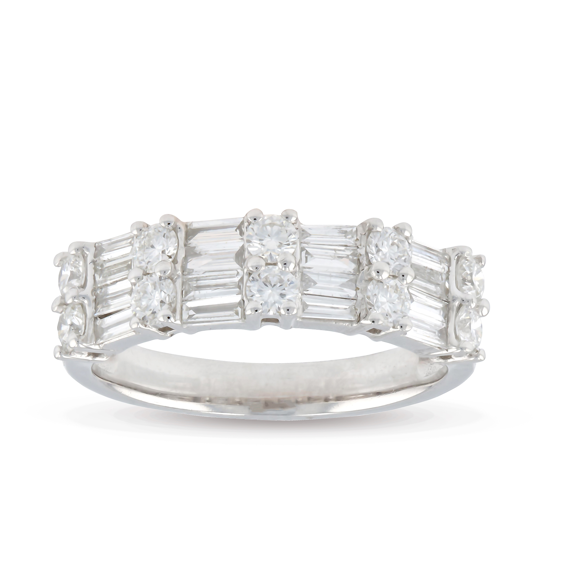 View 0.99ctw Diamond Fashion Band in 18k White Gold