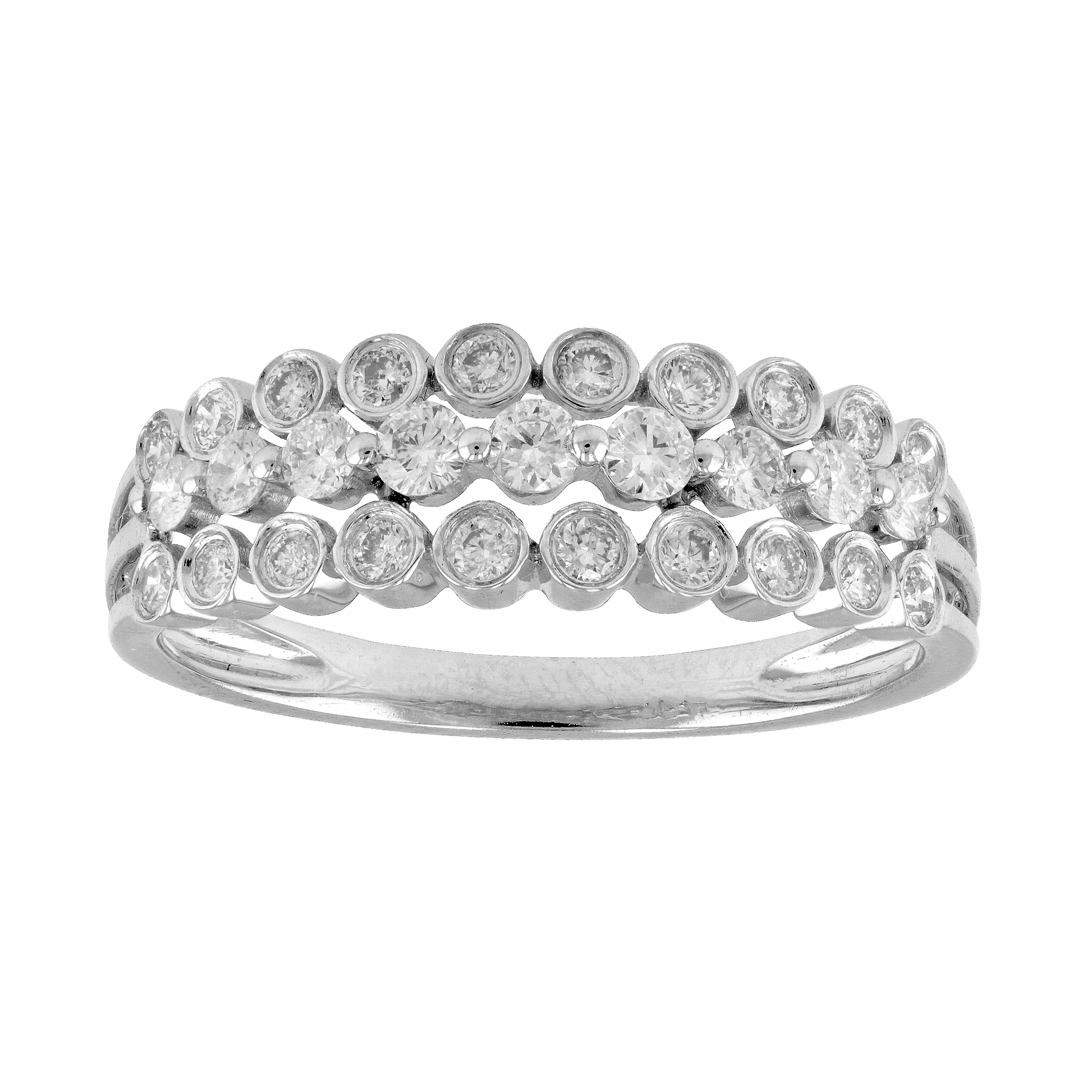 View 0.53ctw Diamond Band in 18k White Gold